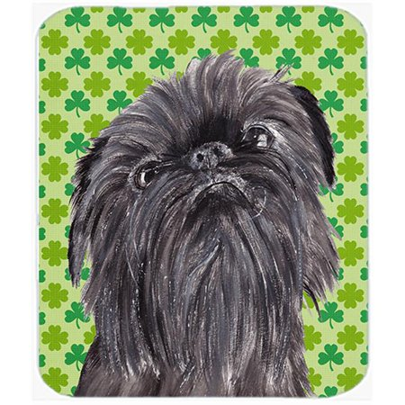 7.75 x 9.25 in. Brussels Griffon St Patricks Irish Mouse Pad, Hot Pad or Trivet - image 1 of 1