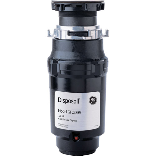 GE Continuous Feed Heavy-Duty 1/3hp Garbage Disposal with Attached Cord
