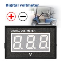 "Waterproof Monitor DC 4.5-150V 36 Volt Battery Meter Voltage Tester Automative Electric Cars Gauge Golf Cart E-Bike Bicycle Motorcycle Small Digital Voltmeter 0.56""LED Blue"