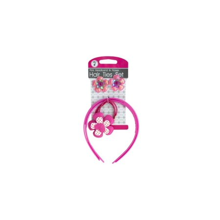 7-Pc Headband and Flower Hair Ties Set - Walmart.com 81a3840d800