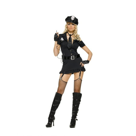Womens Sexy Dirty Cop Uniform Halloween Costume (Cop Outfit For Halloween)