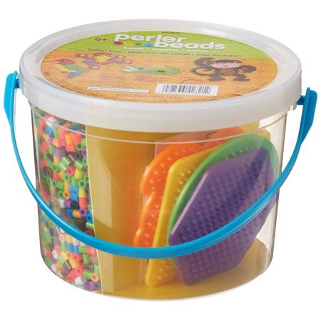 Beads 42821 Safari Fun Activity Bucket_42821,, Design your own projects using the pegboards included in your kit By