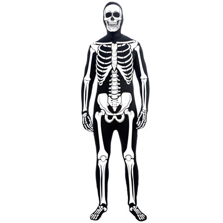 Mens Skeleton Man Suit Costume - Skelton Costumes