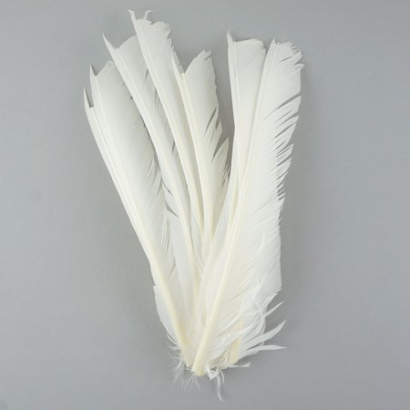 """Zucker Feather Products Turkey Pointers - Right Wing - 10-12"""" - 12 pcs - White"""