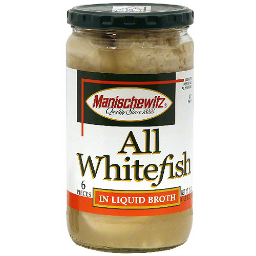 Manischewitz All Whitefish In Liquid Broth, 24 oz (Pack of 6)