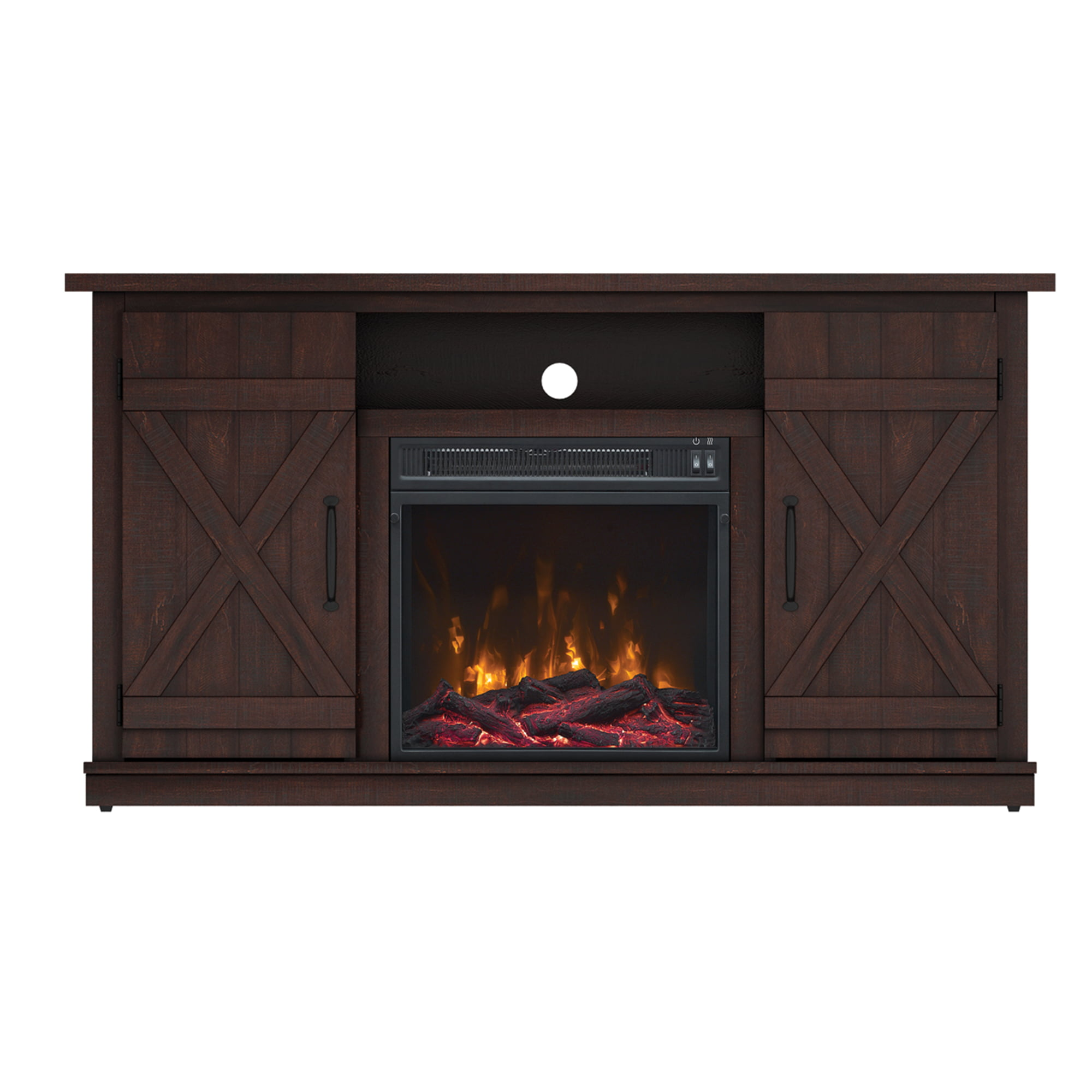 55 inch tv stand with fireplace media console electric entertainment center sale 611768103348 ebay. Black Bedroom Furniture Sets. Home Design Ideas