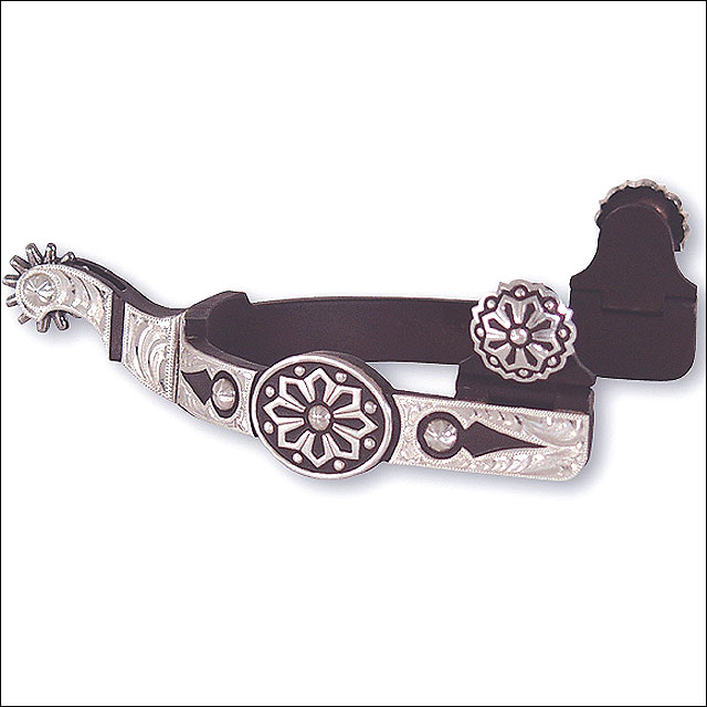 CLASSIC EQUINE LARGE ROPING AND BARREL RACING GIST DESIGN AZTEC SPUR