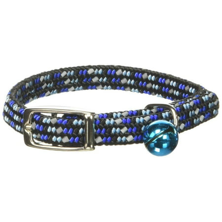 Products CCP7721BLU Li'l Pals Elasticized Reflective Adjustable Kitten Safety Collar with Bells, Blue, Elasticized kitten safety collar with bells offer the perfect.., By Coastal (Coastal Lazer Reflective Collar)