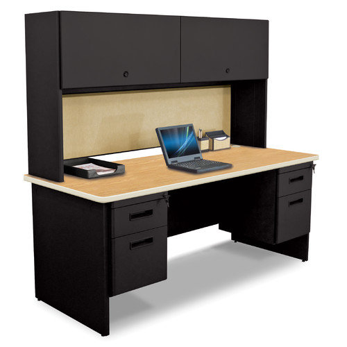 Marvel Office Furniture Pronto Executive Desk with Flipper Door Cabinet and 2 Pedestal