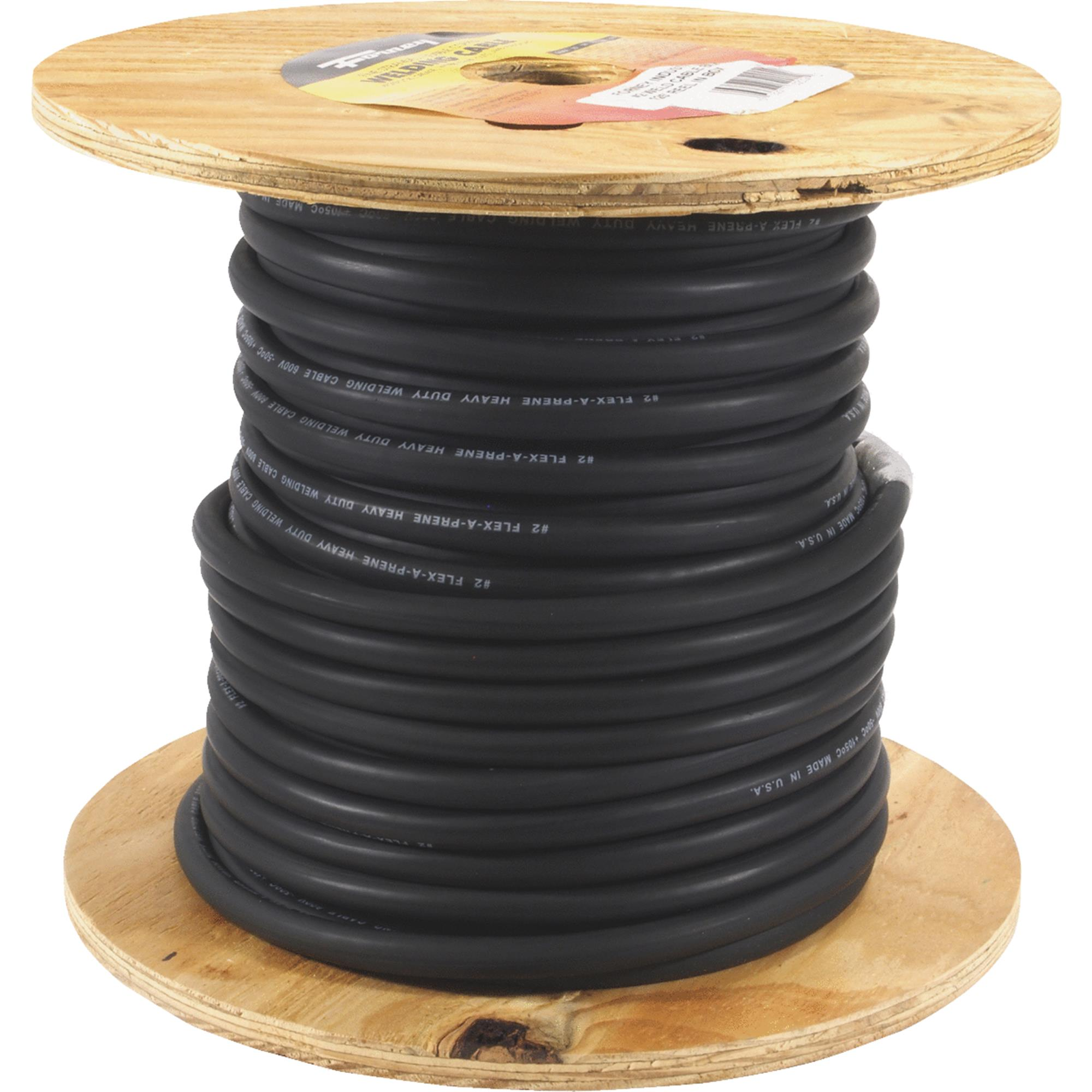 WELDING CABLE 2GA 125FT REEL