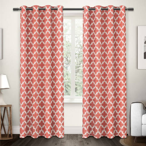 Exclusive Home Neptune Cotton Window Curtain Panel Pair with Grommet Top