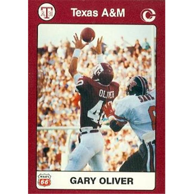 Gary Oliver Football Card (Texas A&M) 1991 Collegiate Collection No. 36