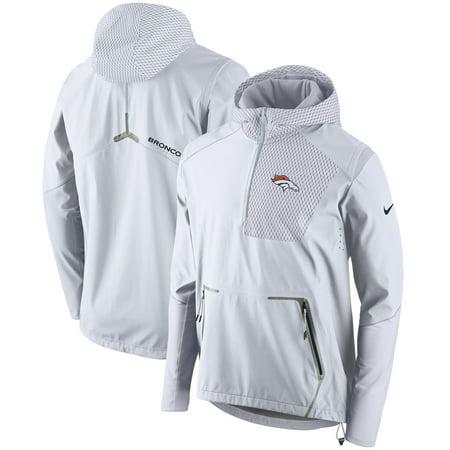 Denver Broncos Nike Champ Drive Vapor Speed Fly Rush Flash Half-Zip Pullover Jacket - White