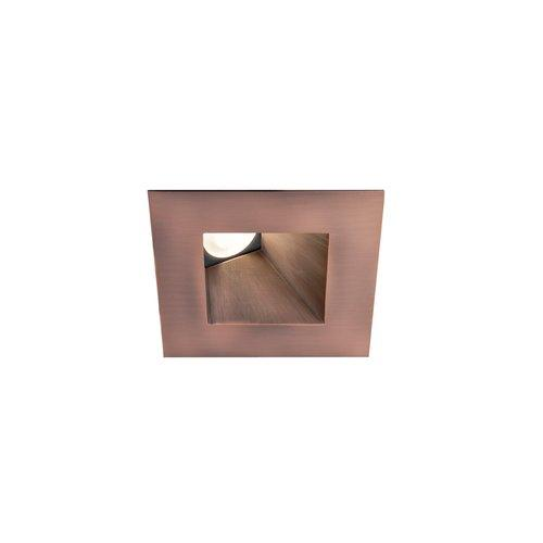 WAC Lighting Tesla LED 3in Wallwasher Square Trim Warm Light 3000K Copper Bronze