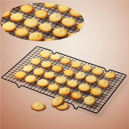 Nonstick Oven Cooker Cooling Grill Pan Grid Rack Shelf Mesh coolingsheet Food Stand 40 x 25cm ()