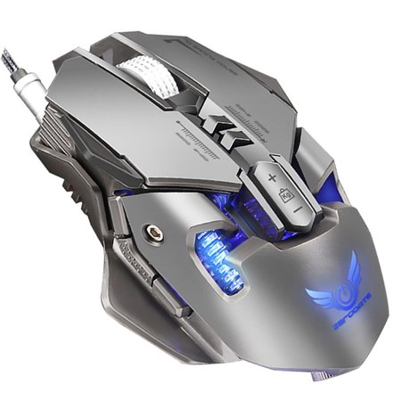 3 Programmable Buttons - Gaming Mouse - 4000 DPI , 7 Programmable Buttons , Wired Game Mouse With LED Backlight
