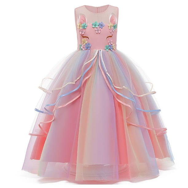 Details about  /Girl Dress Princess Cosplay Costume Girls Sleeveless Ruffles Classic Dress Set