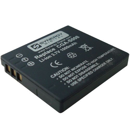 Panasonic SDR-S7 Camcorder Battery Lithium-Ion (1000mAh) - Replacement For Panasonic CGA-S008 and Leica BP-DC6 Batteries