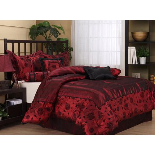 Evangeline 7Piece Bedding Comforter Set Walmartcom