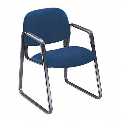 HON 4008AB90T Solutions Seating Sled Base Guest Chair, Olefin, Blue