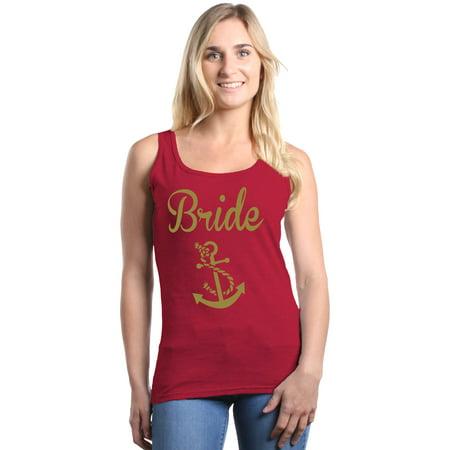 be7f05b492e04 Shop4Ever - Shop4Ever Women s Bride Anchor Gold Bridal Nautical ...