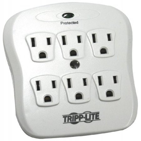 Tripp Lite 6 Outlet Surge Protector Suppressor  Wall Mount Direct Plug In     10K Insurance  Sk6 0