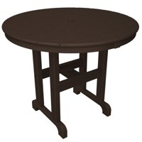 POLYWOOD® Round 36 in. Recycled Plastic Dining Table