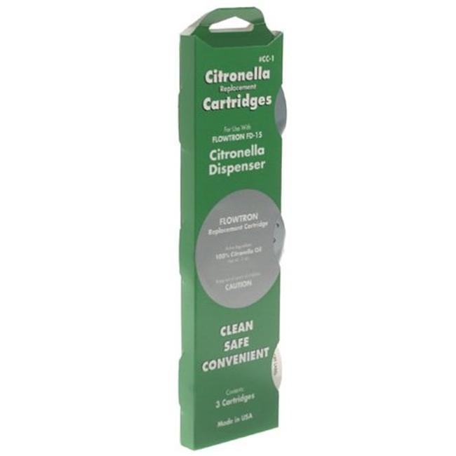 Flowtron CC-1 Replacement Cartridge for FD-15 Citronella Dispenser  3-Pack