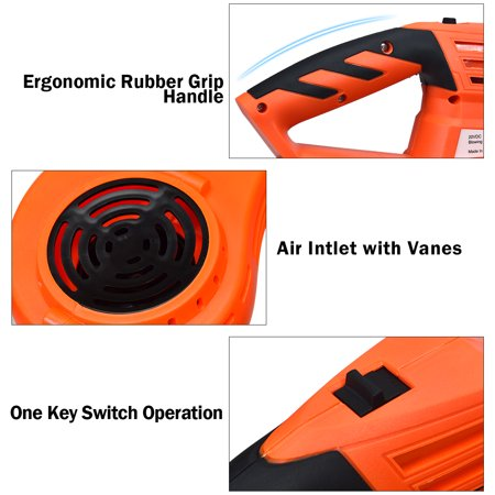 Costway 20V 2.0Ah Cordless Leaf Blower Sweeper 130 MPH Blower Battery & Charger Included - image 3 of 10