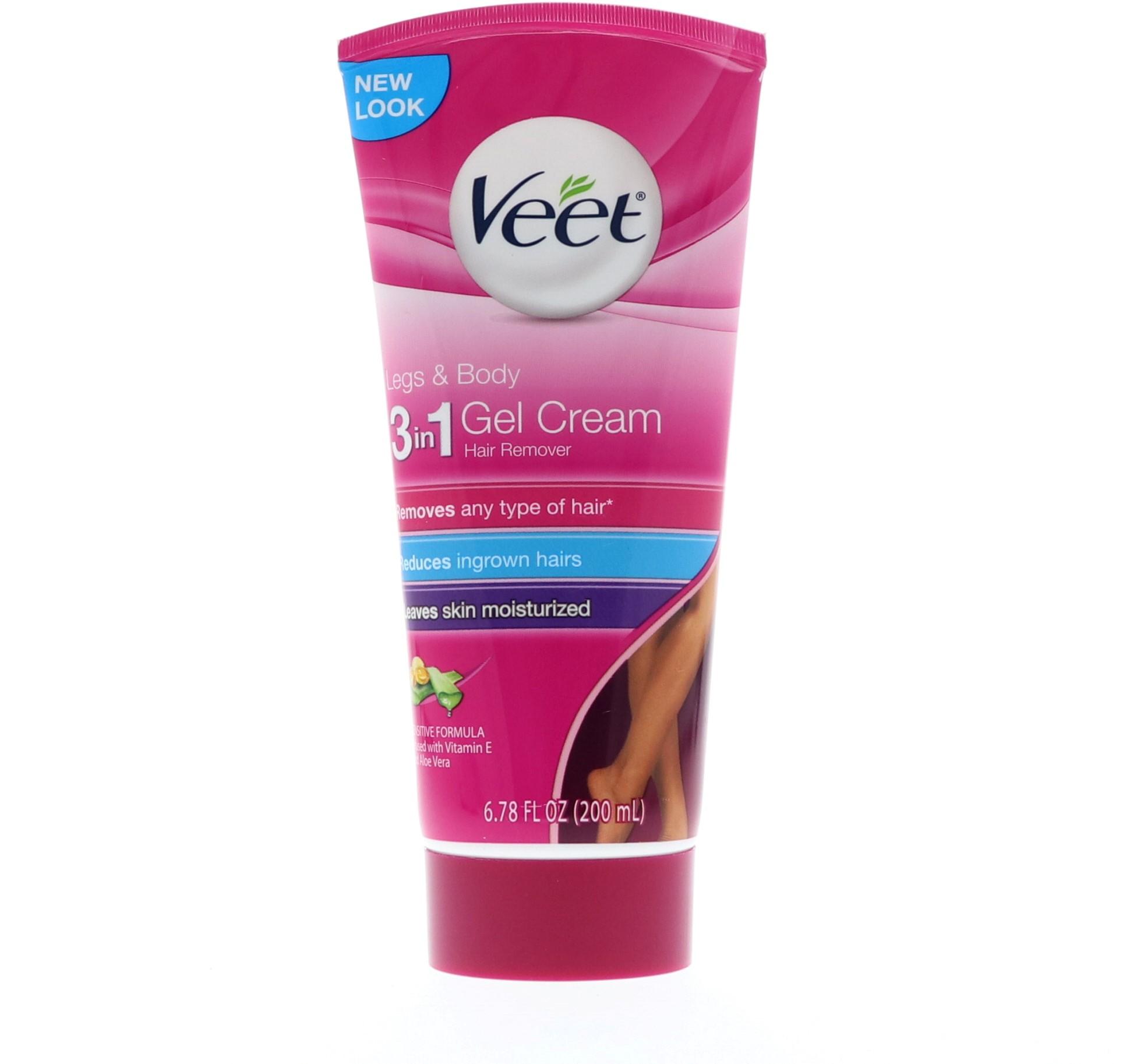 Veet Legs & Body 3 in 1 Gel Cream, 6.78 oz.