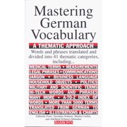 Barron's Vocabulary: Mastering German Vocabulary: A Thematic Approach (Paperback)