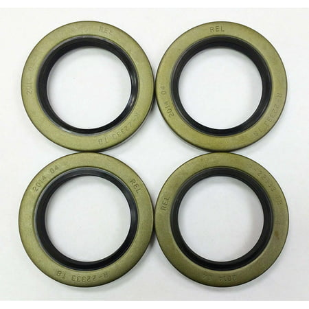 Set of 4 Trailer Hub Grease Seals E-Z Lube 5200-7000lbs Axle 2.25 x 3.371 -22029 Viton Oil Seals