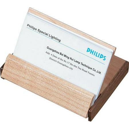 Durmast Natural Maple Wood And Walnut Desktop Business Card