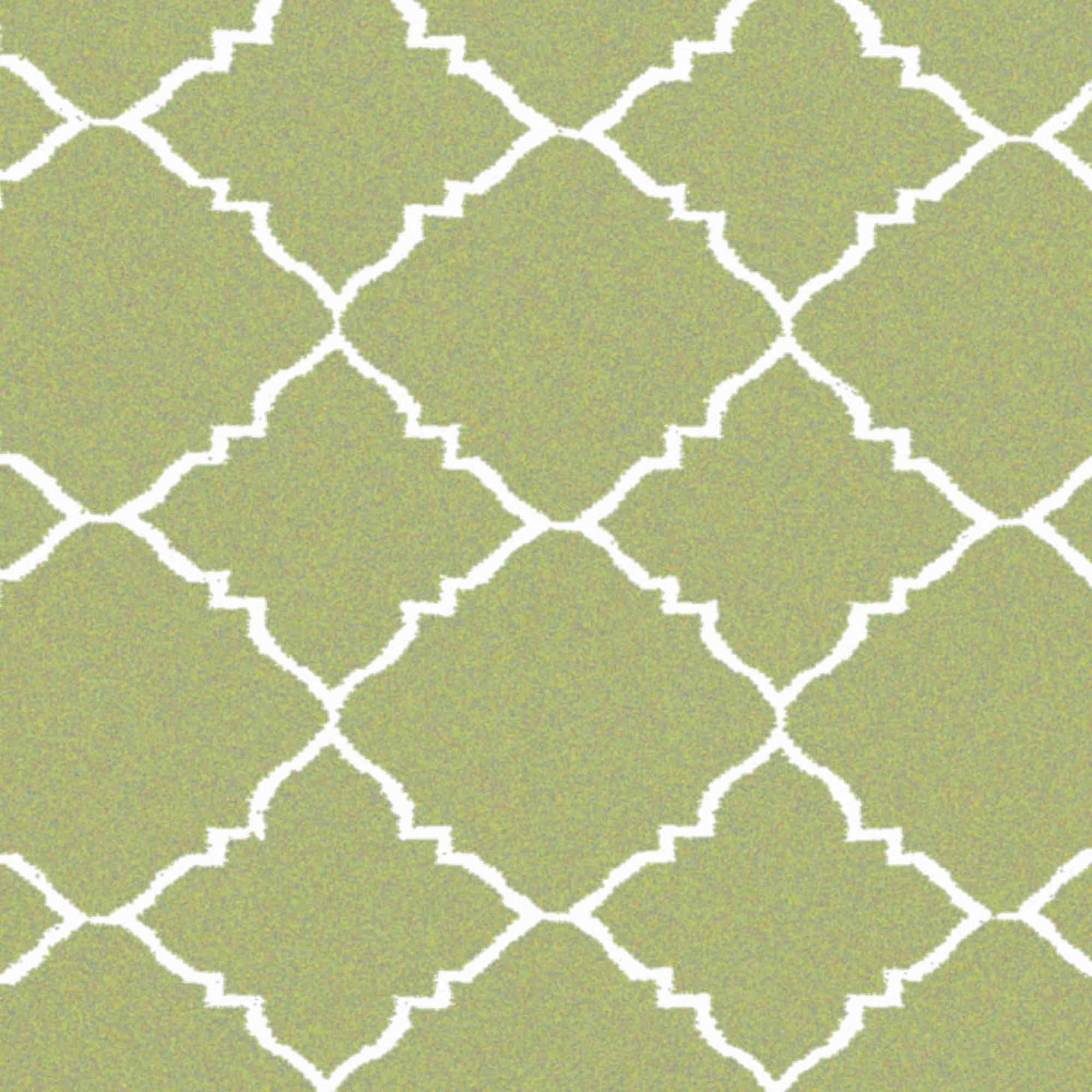 Art of Knot Prichard Hand Woven Gate Scroll Flatweave Wool Area Rug, Green