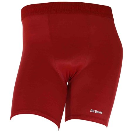 McDavid Classic Logo 805 Mens Mid-Length Compression Shorts Red (Red Compression Shorts)
