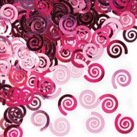 Candy Pink Swirls Confetti](Pink Confetti)
