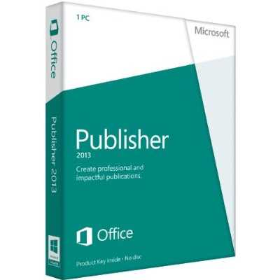 Microsoft Publisher 2013 - Product Key, 32/64-Bit  - 164-06987