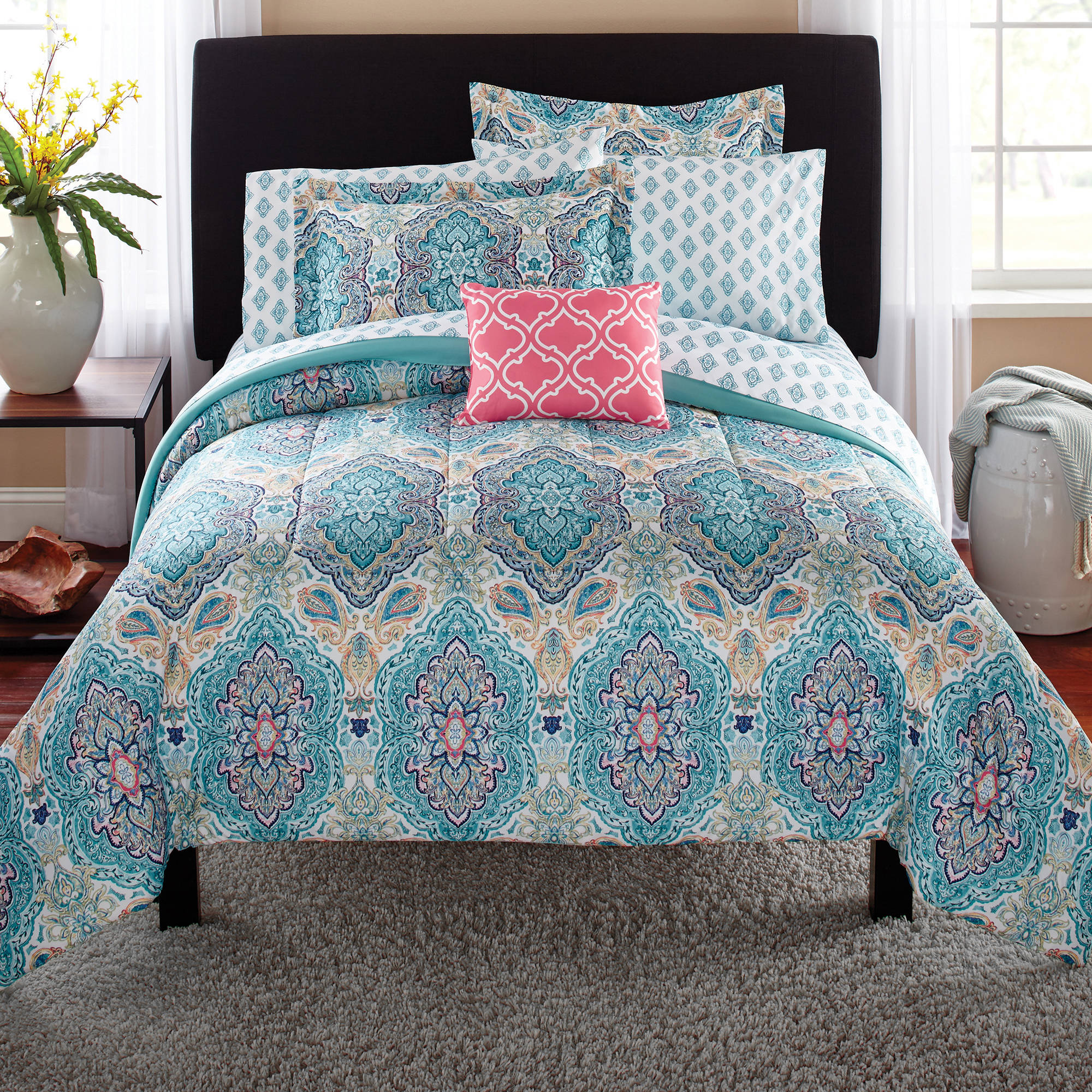 Mainstays Monique Paisley Complete Bedding