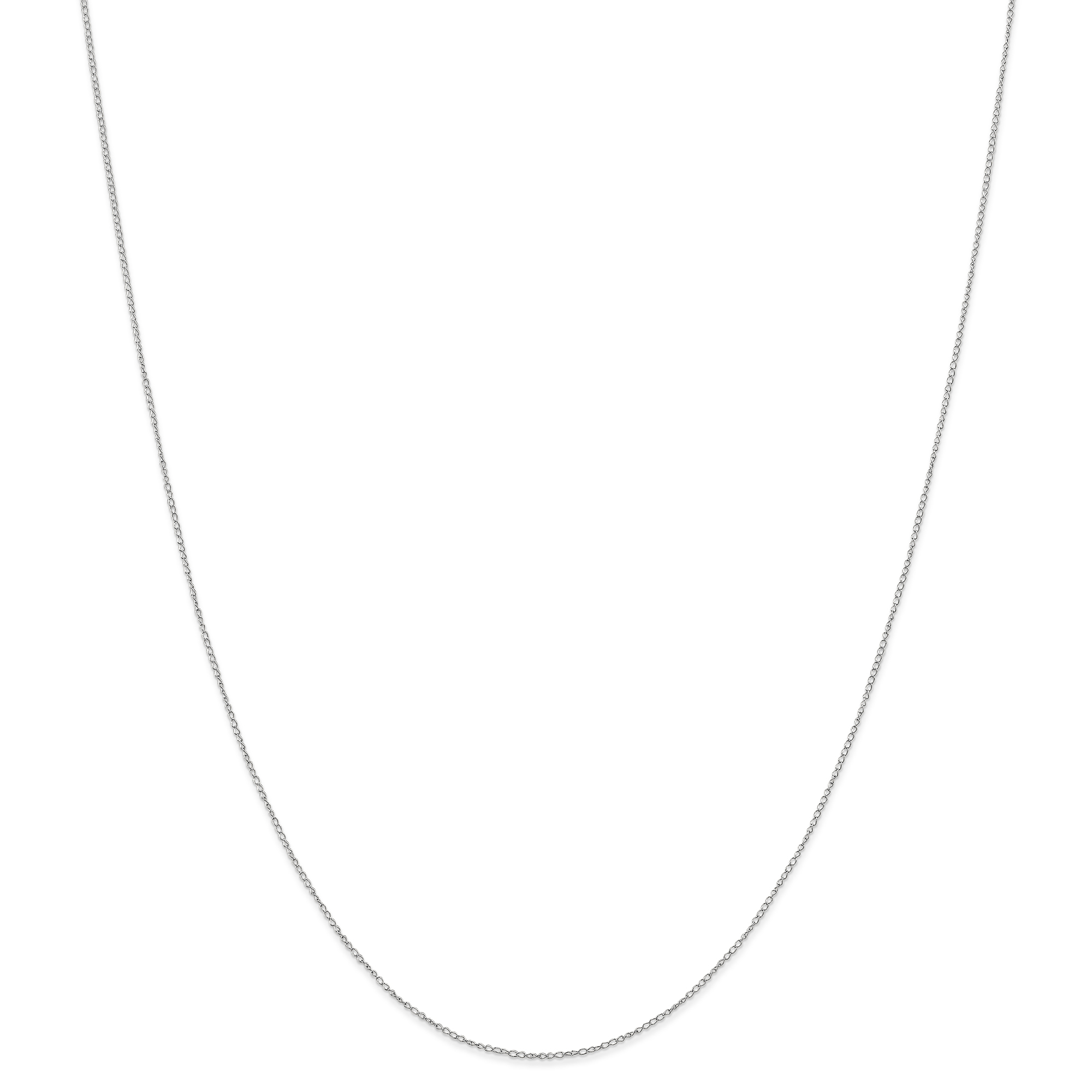 14k White Gold Carded Link Curb Chain Necklace 20 Inch Pendant Charm Fine Jewelry Gifts For Women For Her - image 6 of 6
