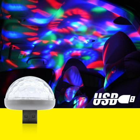 USB Small Size Magic Ball lamp Touch sensor Neon Sphere Car Interior Light - image 7 de 9