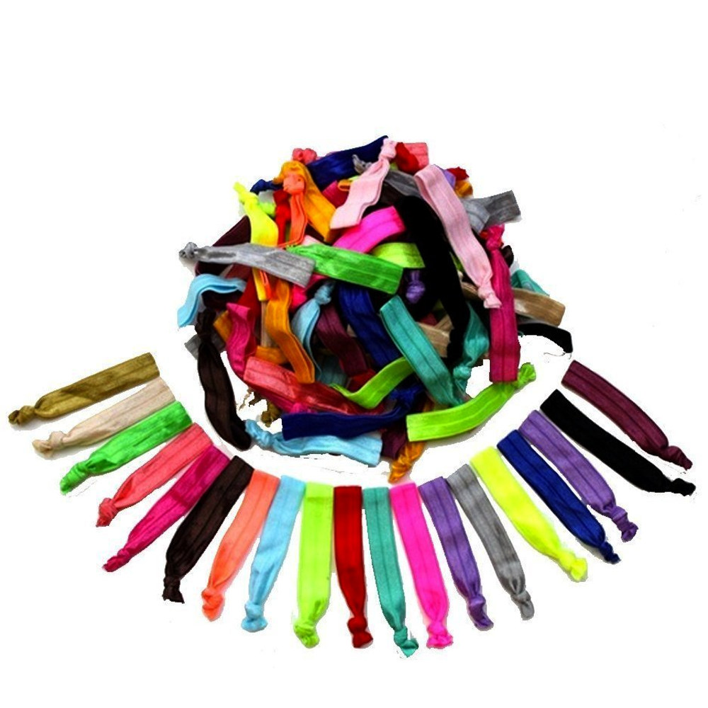 Women's Hair Ties Elastic Colourful Hair Accessory Styling Tool - 60 UNITS