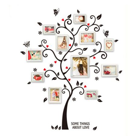 AkoaDa Beautiful Family Tree Wall Decal with Quote - The Only Stick You Need for Living Room and Bedroom