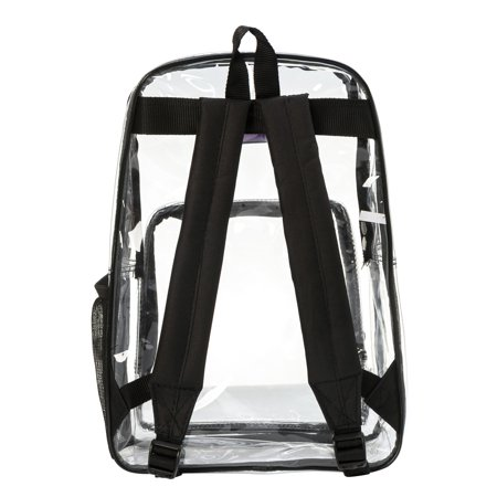 Clear Backpack See through School bags Basic Transparent Student Bookbag, Black - Pokemon Bookbag