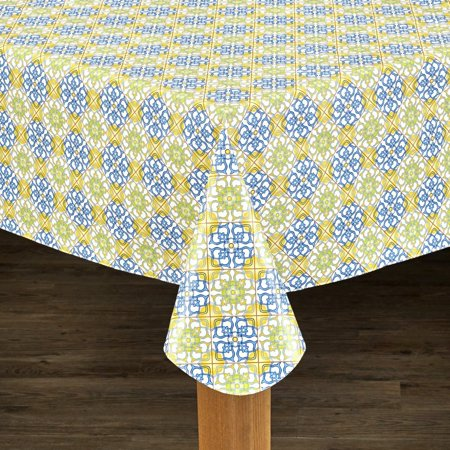 Linens Mosaic Flannel Backed Heavyweight Indoor Outdoor
