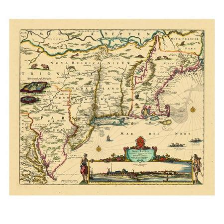 1684, Connecticut, Maine, Massachusetts, New Hampshire, New Jersey, New York, Rhode Island, Vermont Print Wall (1684 Art)