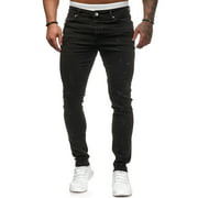 Fashion Casual Stretchy Denim Pants Jeans for Men Teenage Boys Slim Fit Skinny Trousers Joggings