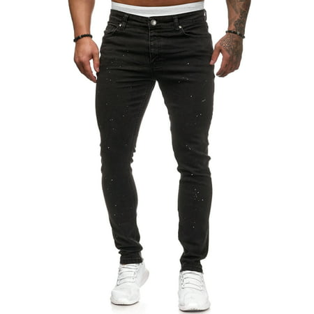 Sexy Dance Men Black Denim Jeans Male Fashion Hip Hop Skinny Slim Fit Denim Pants Teenage Boys Biker Trousers Joggings