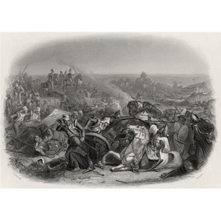 Posterazzi DPI1860748LARGE The Battle of Meeanee 1843 Engraved by C H Jeens After E Armitage Poster Print, 32 x 24 - image 1 de 1
