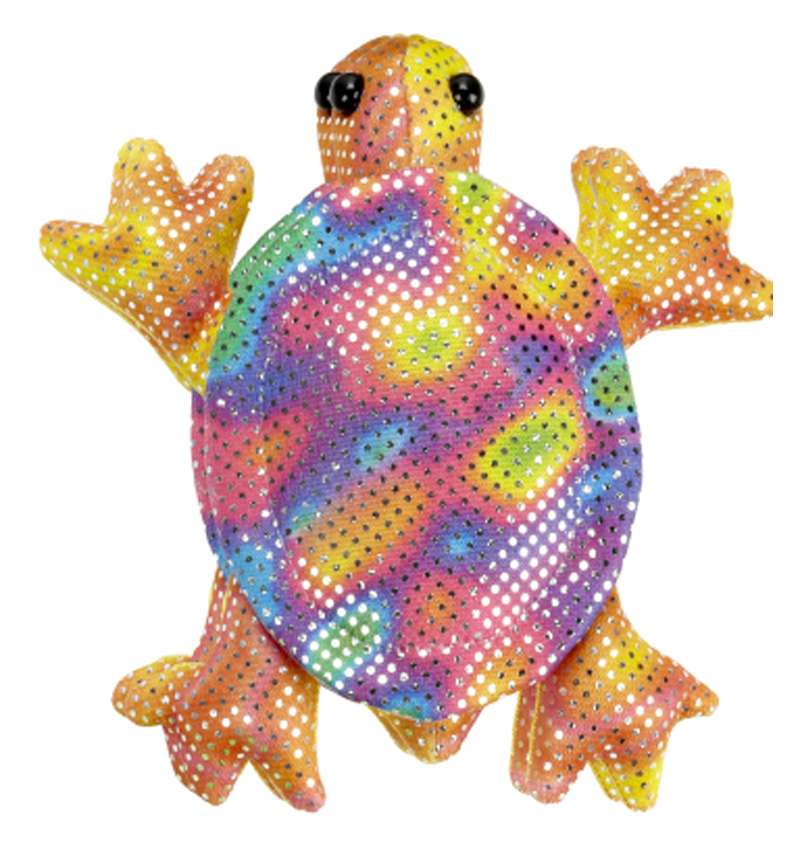 Shimmering Rainbow Bean Bag Tropical Turtle - By Ganz