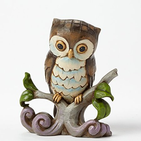 Jim Shore Plush - Jim Shore Heartwood Creek Owl Bird on Tree Branch Miniature Figurine 4044525 New